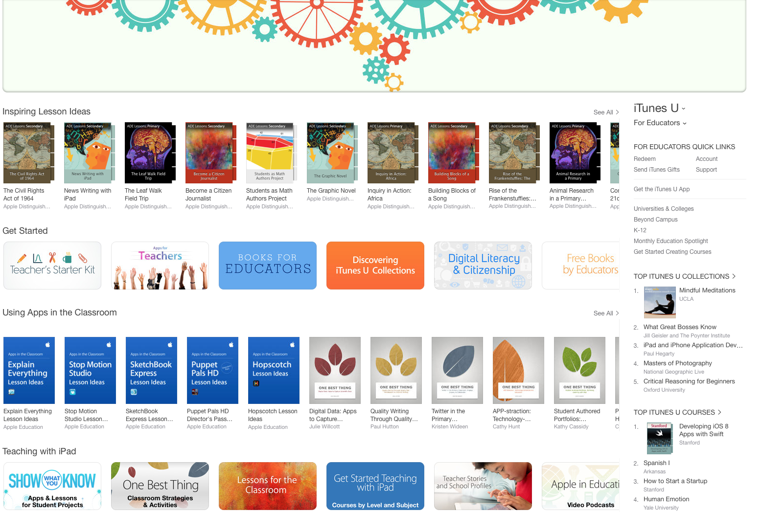 "iTunes Store – ""For Educators"" Section"